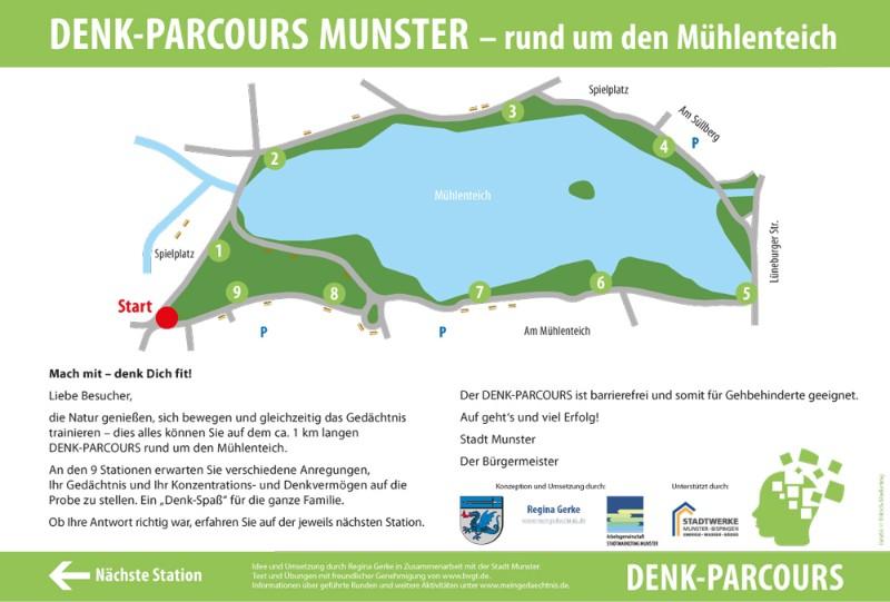 Denk-Parcours Münster Mühlenteich
