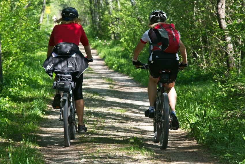 Fahrrad fahren im münsterland